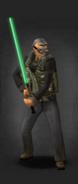 TLSDZ Green laser sword equipped