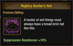 Tlsdz replica hunter's hat