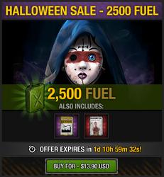 Tlsdz halloween 2014 sale - 2500 fuel
