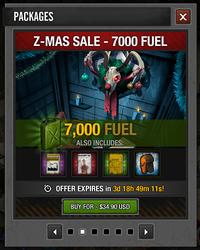 Z-Mas 2015 Sale 7000 fuel