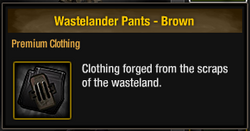 Wastelander Pants - Brown