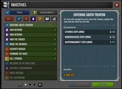 Objectives menu