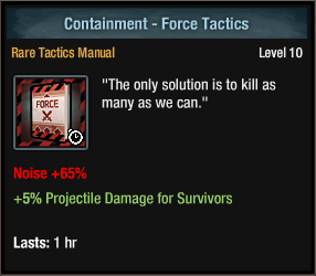 Containment - Force Tactics