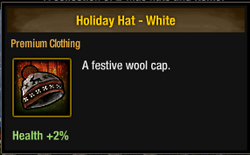 Tlsdz Holiday Hat - White