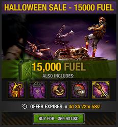 Tlsdz halloween sale - 15000 fuel