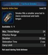 Grenade-tac smoke