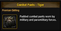 Combat pants-tiger