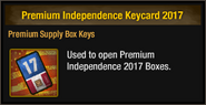Premium Independence Keycard 2017