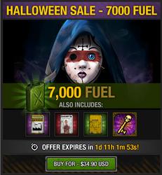 Tlsdz halloween 2014 sale - 7000 fuel
