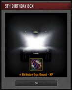 Opened 5th Birthday Boosting Box
