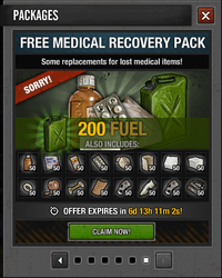 Lvl 50 Free Medical Recovery Pack