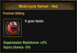 Tlsdz motorcycle helmet - red