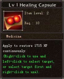 Lv 1 Healing Capsule