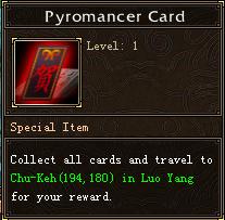 Pyromancer Card