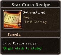 Star Crash Recipe