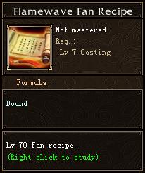 Flamewave Fan Recipe