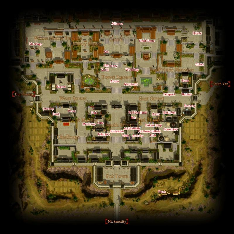 Lou Yang Area Map