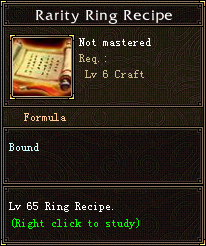 Rarity Ring Recipe