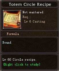 Totem Circle Recipe