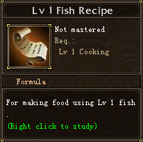 Lv 1 Fish Recipe
