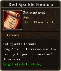 Red Sparkle Formula