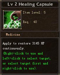 Lv 2 Healing Capsule