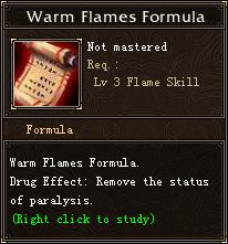 Warm Flames Formula