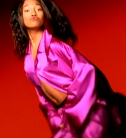 Chili TLC creep music video silk pajamas