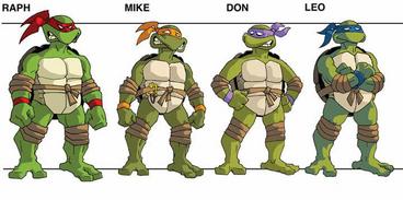 TMNT 2001 turtle concept art