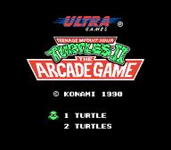 TMNT II The Arcade Game Title Screen NES