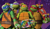 TMNT with skateboards