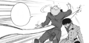 Kobayashi impales Shirazu