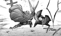 Amon facing off against Takizawa