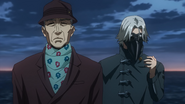 Yoshimura and Yomo investigate Aogiri