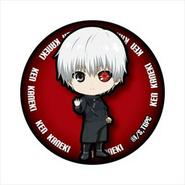 White-Haired Kaneki's can badge with kakugan