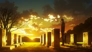 Amon visiting Mado's grave