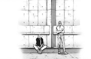 Kaneki and Hirako having a conversation