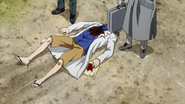 Asaki injured by Yamori and found by the Doves