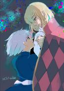 Ishida's illustration of Howl