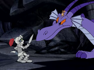 Fire Breathing Tom Cat - Fright Knight Tom and Dragon with Jerry