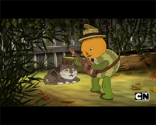 John and the Garden Cat
