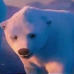 A Coke polar bear. G loves Coke.