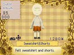 Sweatshirt and shorts