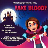 Allison Heart Halloween Fake Blood