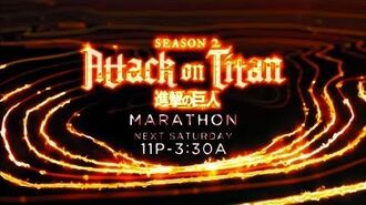 Attack on Titan Season 2 Marathon - Toonami Promo