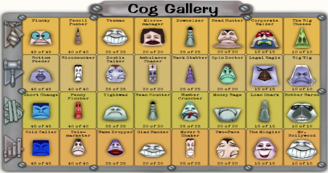 Cog gallery toontown wiki fandom powered by wikia for Toontown fishing guide