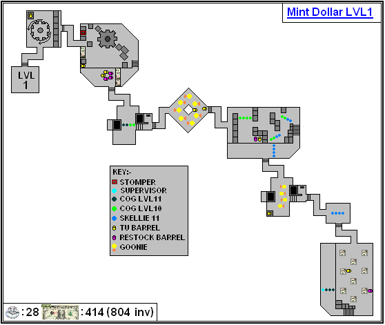 Mint Maps - Dollar - LVL01
