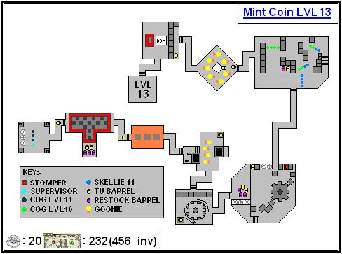 Mint Maps - Coin - LVL13