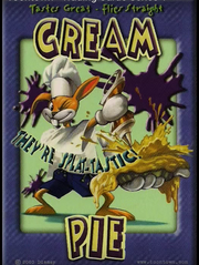 Cream pie card