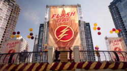 Barry shows up to Flash Day